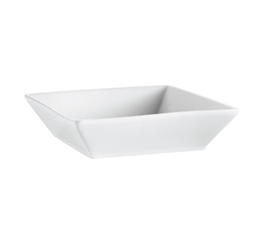 "CAC China KSE-B6 Kingsquare Bowl, 15 oz., 6""L x 6""W x 1-3/4""H, square, 2dz Per Case"