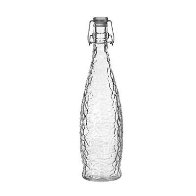 Libbey 13150120, 1-Liter Glacier Water Bottle With Clear Clamp Top Lip, Glass