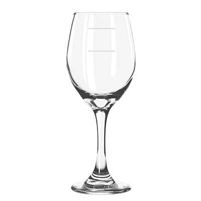 Libbey 3057-1178N Perception 11 oz. Wine Glass With Pour Lines