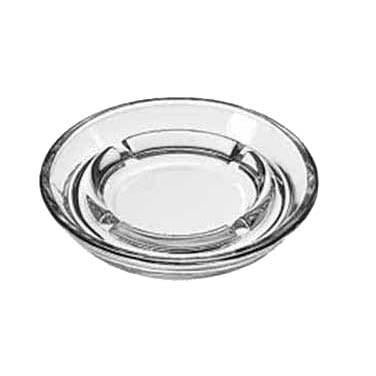 "Libbey 5164 Safety Ash Tray, 5"" Diameter, Clear Glass"