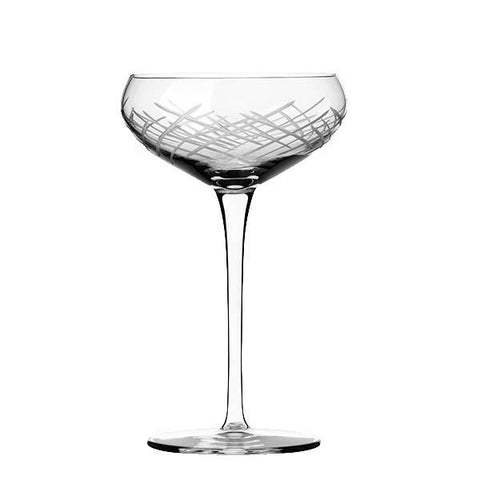 Libbey Master's Reserve® 9134-69477 Renewal 9 oz. Crosshatch Coupe Glass, Made In USA