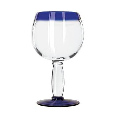 Libbey 92309 Aruba 16 oz. Cocktail Glass With Cobalt Blue Rim