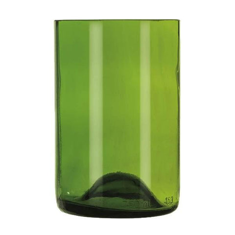 Libbey 97287, 12 oz. Green Repurposed Wine Bottle Tumbler