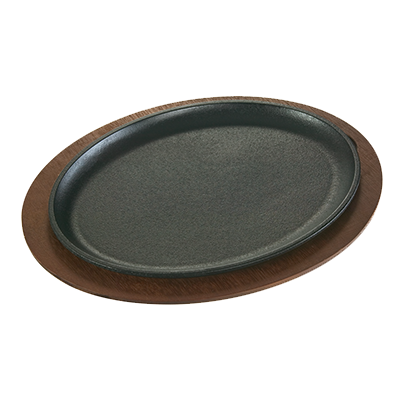 "Lodge LJOSH3 Induction Serving Griddle, 13-3/8""L x 10""W, jumbo, oval, without handle, cast iron"