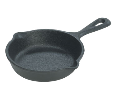 "Lodge LMS3 Induction Miniature Skillet 3-1/2"" Dia., Cast Iron , Made in USA"
