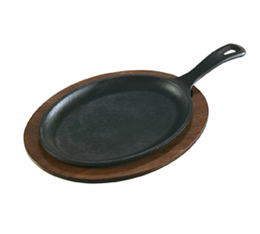 "Lodge LOS3 Induction Serving Griddle, 15-1/4"" x 7-1/2"", oval, cast iron"