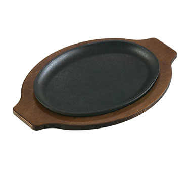 "Lodge LOSH3 Induction Serving Griddle, 10"" x 7-1/2"", oval, without handle, cast iron"