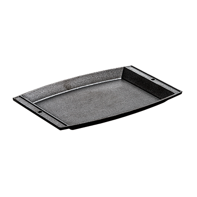"Lodge LSCP3 Sizzlin' Chef's Induction Platter, 11-5/8""L x 7-3/4""W, rectangular, cast iron"