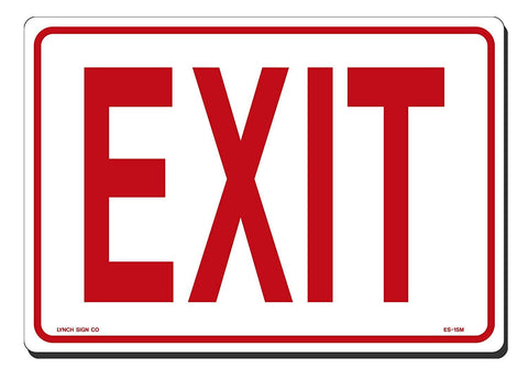 "Lynch ES-1SM, Exit Sign, 10"" x 7"""