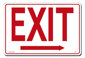 "Lynch ES-2, Exit Sign With Arrow Right, 14"" x 10"""