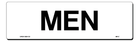 "Lynch MR-2, Mens Sign, White, 17"" x 5"""