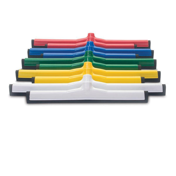 "Malish 5724G 24"" Green Plastic Framed Squeegees"