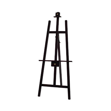 "Winco MBBE-3 Tripod Display Easel, 23-1/4""W x 1""D x 61""H, solid 1"" thick wooden frame, (2) adjustable deluxe planes, pure copper knobs, wood, mahogany finish"