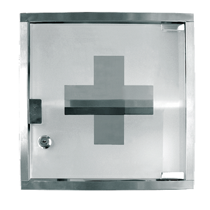 "Crown Brands MC-125S Update International™ - First Aid Cabinet/Medicine Case, 12""L x 12""H x 5"" deep, stainless steel"