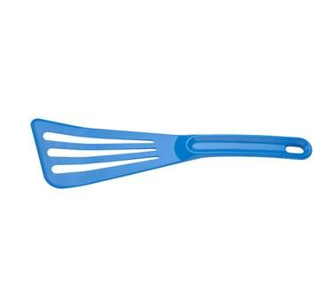 "Mercer M35110BL Hell's Tools Hi-Heat Slotted Spatula, 12"" x 3.5"", Blue"