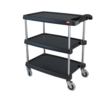 "Metro MY1627-34BL Black Utility Cart - 18"" x 32"""