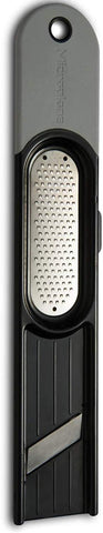 Microplane 48910, 3-In-1 Ginger Grater Tool - Black And Grey