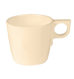 Thunder Group ML9011T Nustone 7 oz. Tan Stackable Melamine Cup