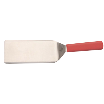 "Mundial R5693HH Turner 4"" x 8"" x 15"", Stainless Steel Blade, Red Handle"