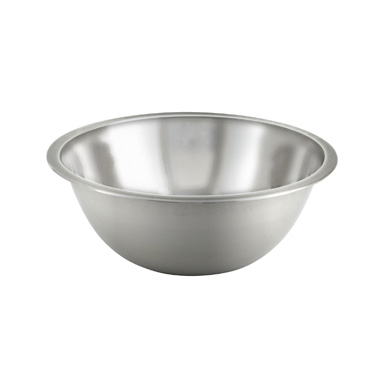 Winco MXB-75Q .75 Qt. Standard Weight Stainless Steel Mixing Bowl