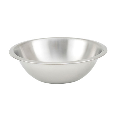 Winco MXHV-150 1.5 Qt. Heavyweight Stainless Steel Mixing Bowl