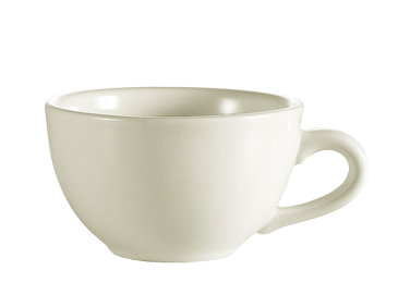 "CAC China NRC-1 NRC Coffee Cup, 7 oz., 3-3/4"" dia. x 2-1/2""H, round, short, narrow rim"