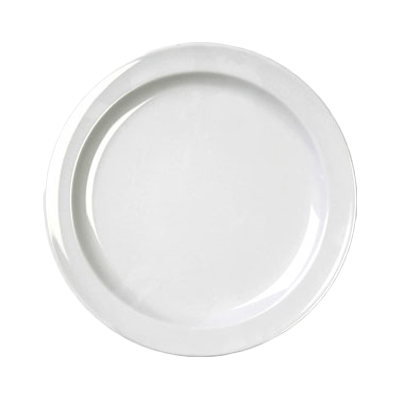 "Thunder Group NS107W Nustone White 7-1/4"" Narrow Rim Melamine Plate"