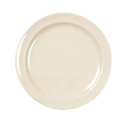 "Thunder Group NS109T Nustone Tan 9"" Narrow Rim Melamine Plate"