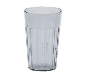 Cambro NT5152 Newport Tumbler, fluted, 6.4 oz., top dia. 2-1/2, impact resistant plastic, interior stacking lugs, Sani-Rim lip, dishwasher safe, SAN, clear