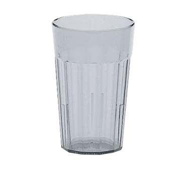 Cambro NT8152 Newport Tumbler, fluted, 8 oz., top dia. 2-11/16, impact resistant plastic, interior stacking lugs, Sani-Rim lip, dishwasher safe, SAN, clear