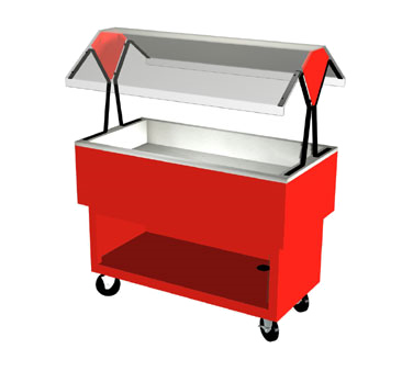 "Duke OPAH-3-CP EconoMate Cold Food Portable Buffet, 44-3/8""W x 22-1/2""D base, (3) section 5"" deep ice cooled stainless steel cold pan, 5"" casters, NSF"