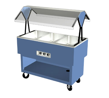 "Duke OPAH-3-HF EconoMate Hot Food Portable Buffet, 44-3/8""W x 22-1/2""D base, (3) hot wells with infinite switch, 5"" casters, UL, cUL, UL CLASSIFIED"