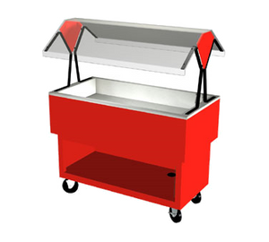 "Duke OPAH-4-CP EconoMate Cold Food Portable Buffet, 58-3/8""W x 22-1/2""D base, (4) section 5"" deep ice cooled stainless steel cold pan, 5"" casters, NSF"