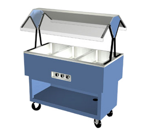 "Duke OPAH-4-HF EconoMate Hot Food Portable Buffet, 58-3/8""W x 22-1/2""D base, 4) hot wells with infinite switch, 5"" casters, UL, cUL, UL CLASSIFIED"
