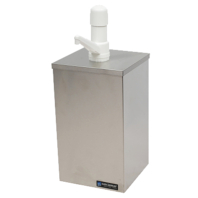 "San Jamar P9800 EZ-Chill™ Condiment Pump Box, countertop, 7""W x 7-1/8""D x 17-1/4""H,"
