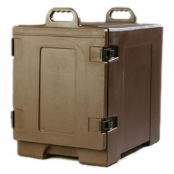 Carlisle PC300N01 Cateraide™ Food Carrier, end loader, individual tracks, insulated, polyethylene, brown, NSF