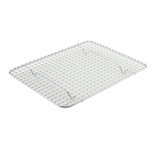 "Winco PGW-810 Wire Pan Grate, 8"" x 10"", 1/2 size, rectangular, chrome-plated"