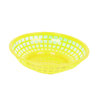 "Thunder Group PLBK008Y Round Fast Food Basket 8"", Yellow"