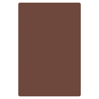 "Thunder  PLCB181205BR Cutting Board, 12"" x 18"" x 1/2"", non-absorbent non-skid surface, dishwasher safe, polyethylene, brown, NSF"