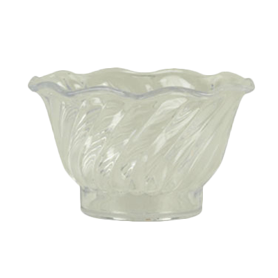 Thunder Group PLDS005CL Dessert Dish, 5 oz., swirl tulip shaped, stackable, plastic, clear