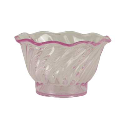 Thunder Group PLDS005P Dessert Dish, 5 oz., swirl tulip shaped, stackable, plastic, purple