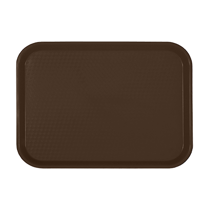 "Thunder PLFFT1216BR Fast Food Tray, 12"" x 16-1/4"", Rectangular, Polypropylene, Brown"