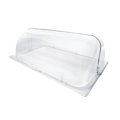 Thunder Group PLRCF001R Chafer Dome Cover, Roll Top, Poly Clear