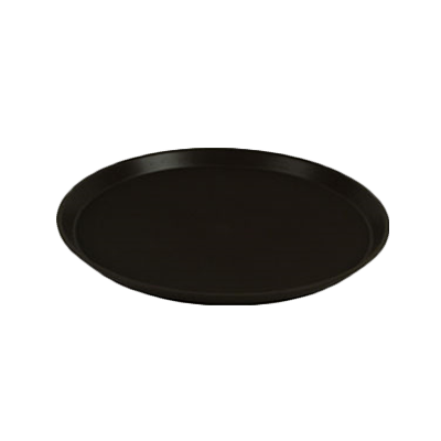 "Thunder PLST1600BR 16"" Round Tray, Brown, NSF"