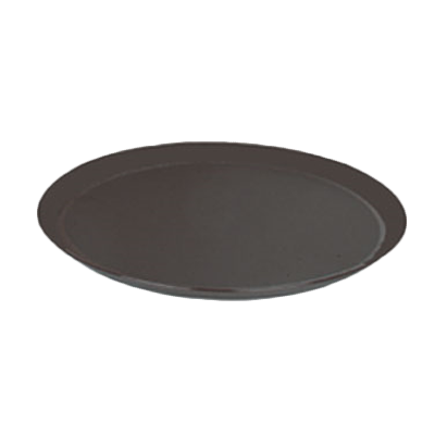 "Thunder PLST2700BR 22"" x 27"" Oval Tray, Brown, NSF"