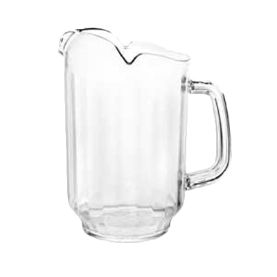 Thunder Group PLWP064CL Water Pitcher, 64 oz., three spout, polycarbonate, clear, NSF