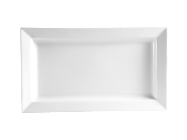 "CAC China PNS-61 Princesquare Platter, 28 oz., 16""L x 8-1/4""W x 1-1/2""H, rectangular, 1dz Per Case"