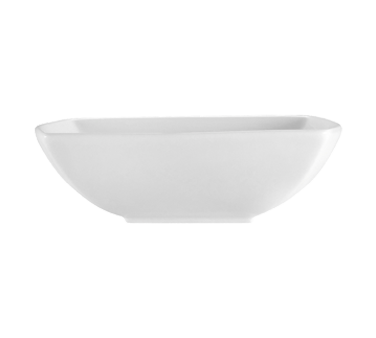 "CAC China PNS-B5 Princesquare Bowl, 10 oz., 5-1/2""L x 5-1/2""W x 1-3/4""H, square, 3dz Per Case"