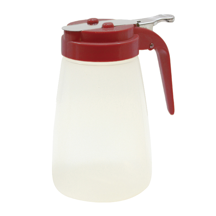TableCraft Products PP10RE Syrup Dispenser - 10 oz., Red
