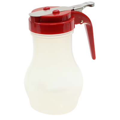 TableCraft Products PP410RE Syrup Dispenser - 10 oz., (Teardrop Design), Red
